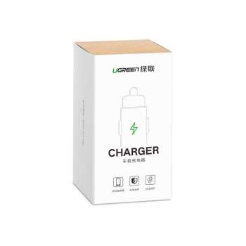 UGREEN DUAL USB CAR CHARGER WHITE